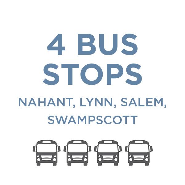 4 Bus Stops: Nahant, Lynn, Salem, Swampscott