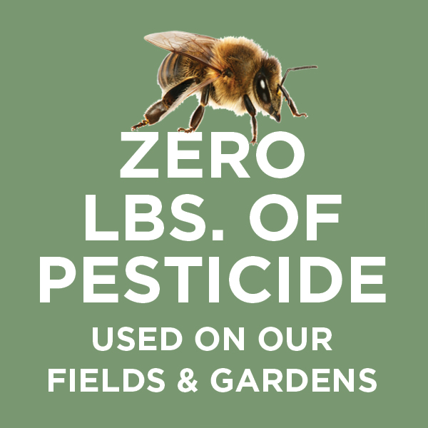 Zero Pounds of Pesticide Used on Our Fields and Gardens