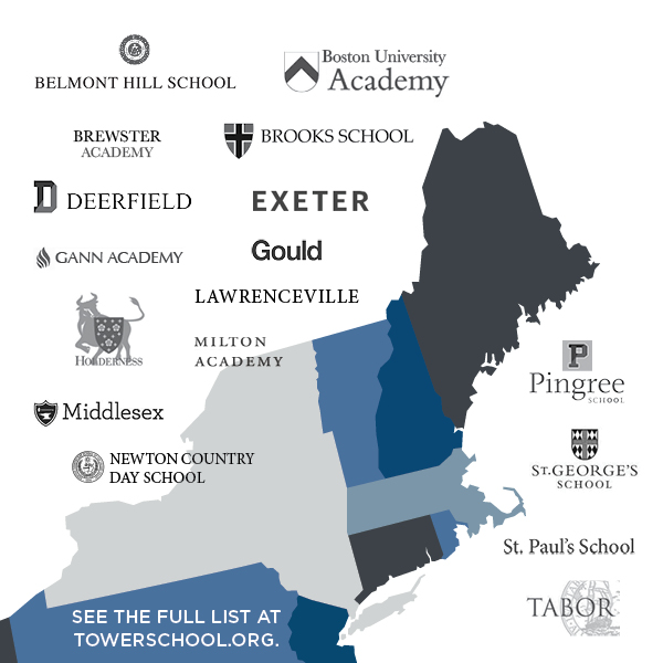 Partial list of New England Area Secondary Schools